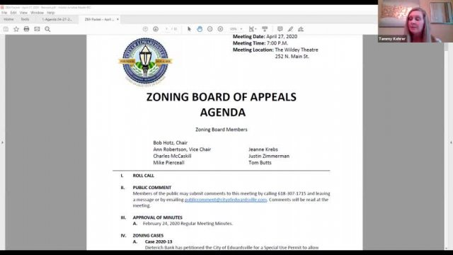 Zoning Board of Appeals Meeting (4-27-20)