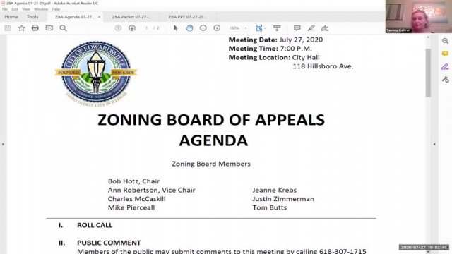 Zoning Board of Appeals Meeting (7-27-20)