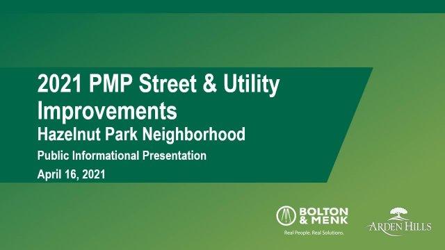 Public Informational Presentation for 2021 PMP