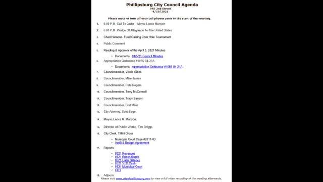 City Council Meeting 04/19/2021