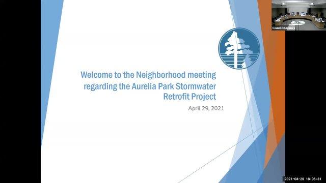 Aurelia Park Pond Open House - April 29, 2021