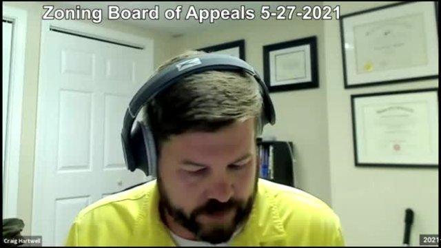 Zoning Board of Appeals 5-27-2021