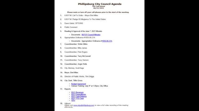 City Council Meeting 06/21/2021