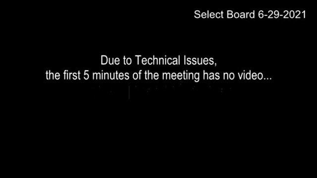 Select Board 6-29-2021