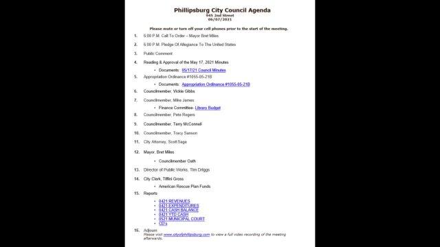 City Council Meeting 07/06/2021