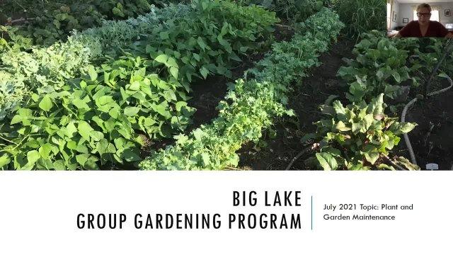 Gardening Workshop July 13, 2021