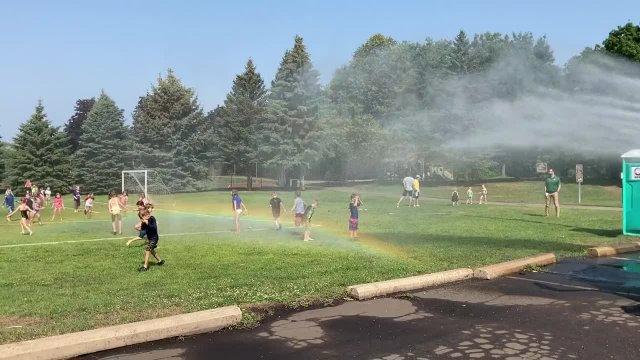 Lake Johanna Fire Department Visits Hazelnut Park