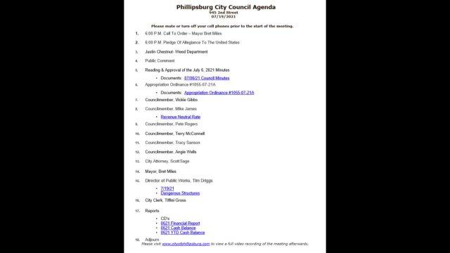 City Council Meeting 07/19/2021
