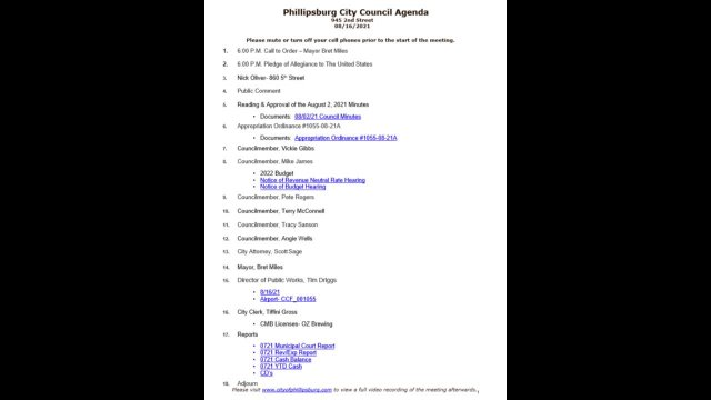 City Council Meeting 08/16/2021