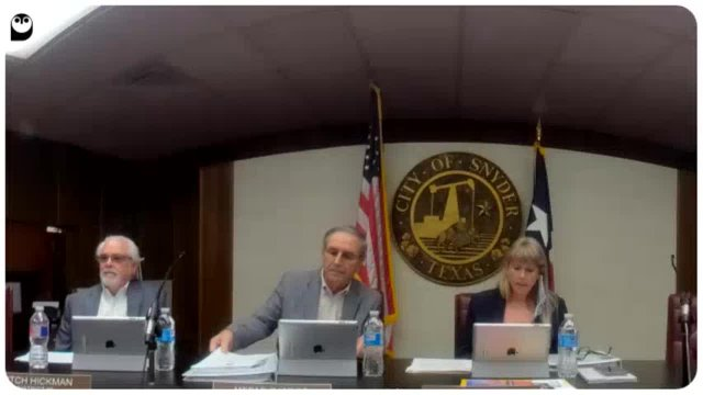 Snyder City Council Meeting August 2, 2021