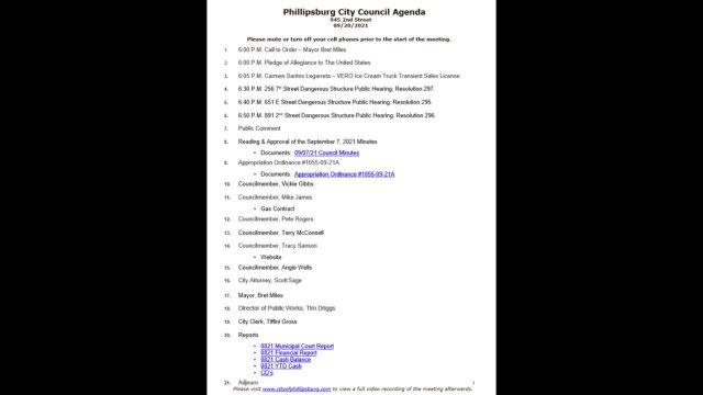City Council Meeting 09/20/2021