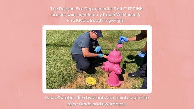 Pelham Fire Department Paint It Pink