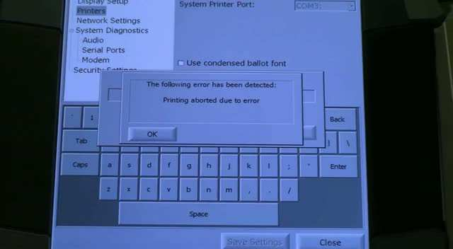 Troubleshooting the Touch Screen Printer