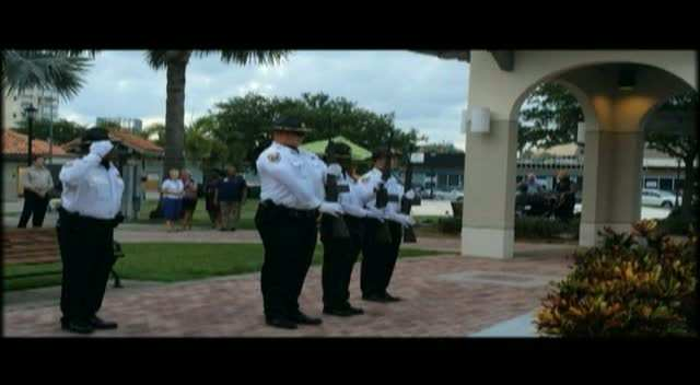 Firing of vollies at 2014 Memorial Day Tribute
