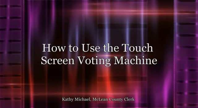 How to Use the Touch Screen Machine