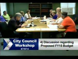 CITY COUNCIL WORKSHOP 8/19/14