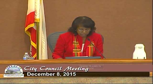 City Council Meeting 12/8/2015