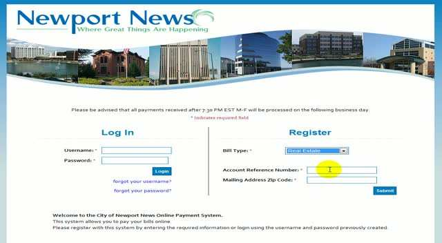 Registering a new username - Real Estate bill