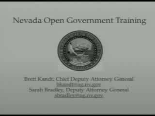 OPEN MEETING LAW TRAINING