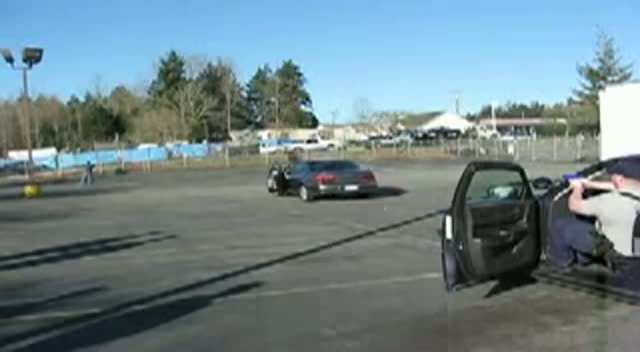 Cadets conduct a felony traffic stop