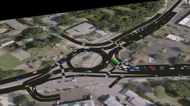 2033 PM Roundabout Traffic @ Coleman Blvd.