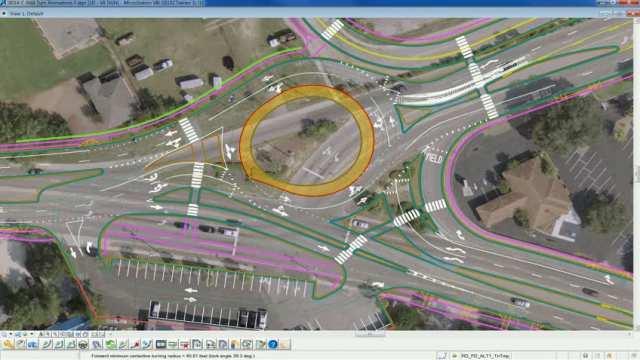 Traffic simulation Chuck Dawley to Ben Sawyer Blvd