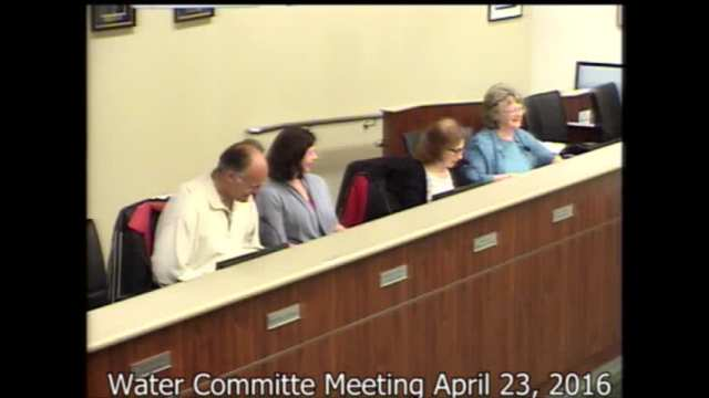 Water Committee April 23, 2016 Meeting