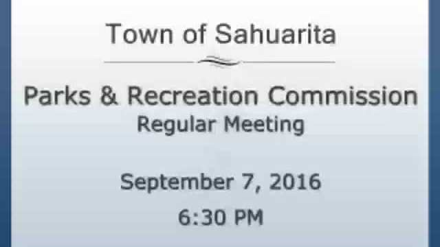 Parks and Recreation Commission September 7, 2016